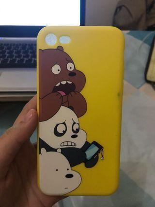 Case iPhone 7 we bare bear yellow SOFTCASE