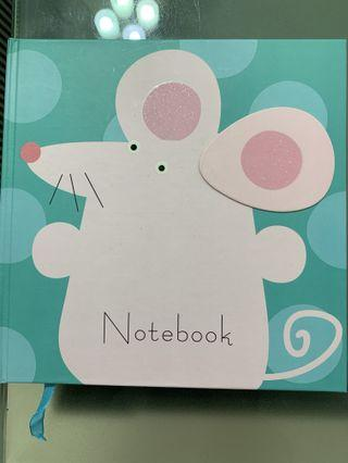 🚚 Cute mouse hardcover notebook