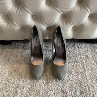 NEW! Steve Madden Trinitie Shoes Heel - Grey Suede - Size 8.5