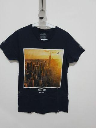 Kaos 3Second T-Shirt Navy Unisex