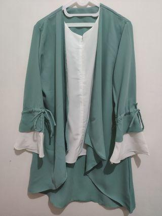 1004 Ribbon Outer Tosca Tunic