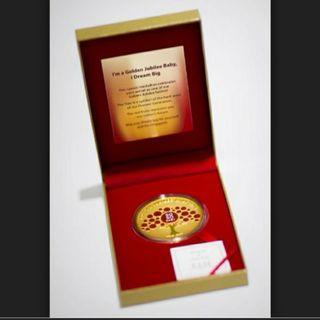 SG50 jubilee baby gold medallion