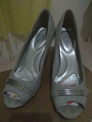 PAYLESS Grey Peep Shoes