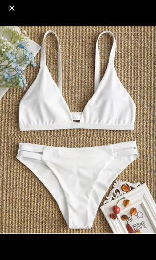 🚚 Zaful Ladder Cut Cami Ruched Bikini