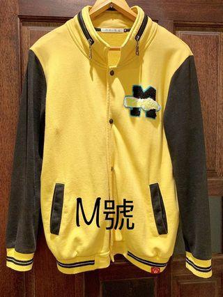 🚚 《二手》黃黑撞色棒球女外套