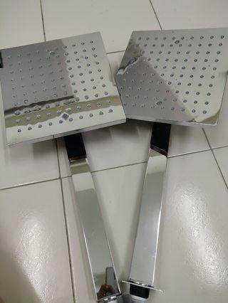 Bathroom Square Shower Head 25x25cm, 2 units