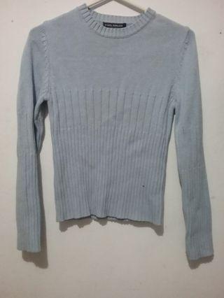 Sweater Knit Soft Blue / Biru Muda