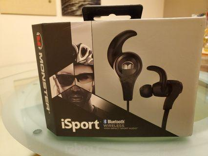 Monster iSport bluetooth wireless earphones 運動藍芽耳機
