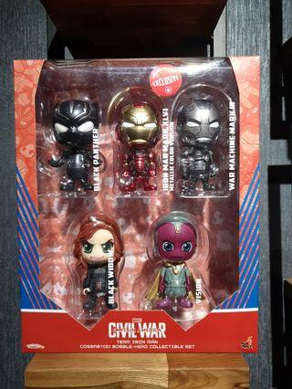 Hot Toys Captain America: Civil War Team Iron Man Cosbaby Collectible Set MISB