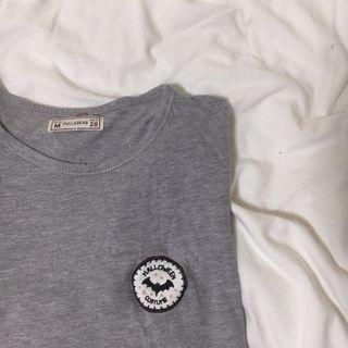 Pull & Bear patch /crop tee