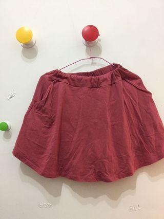 🚚 紅色 舒適裙子