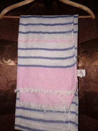 Pashmina stripes cotton on