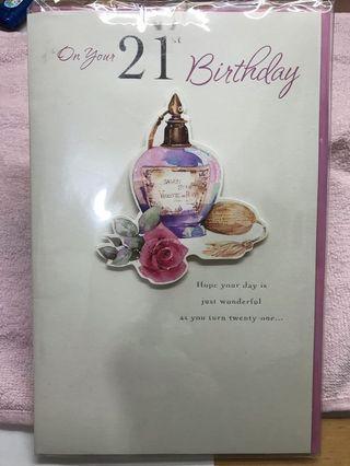 生日卡 21st Birthday Card