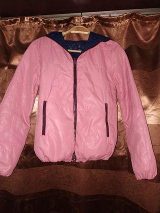 Jaket musim dingin dua warna