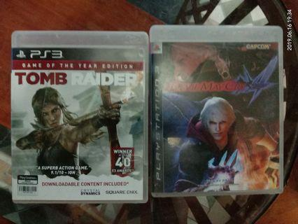Ps3 Games Tomb raider Devil May Cry DMC