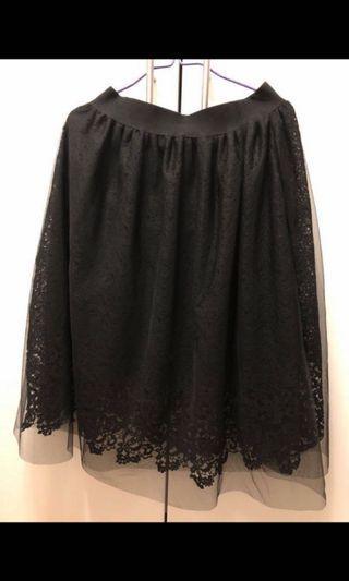 🈹價- 黑色半截裙 Black lace skirt