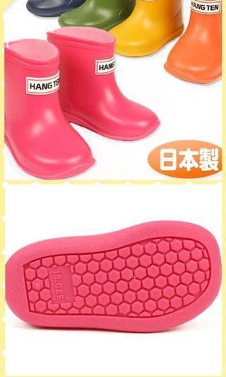 《日本製》HANG TEN 小童雨靴