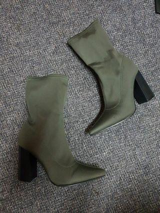 Khaki Sock Boot