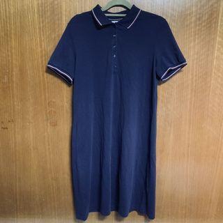 navy polo shirtdress