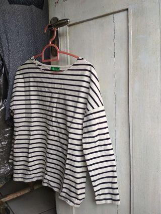 White Black Stripes Shirt