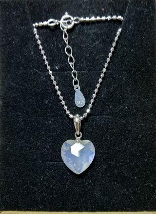 心型925純銀月光石吊咀