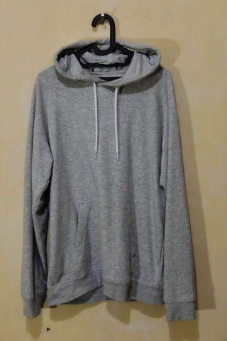 Hoodie H&M Men Grey/Abu-Abu