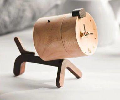 🚚 [instocks] wooden dog table clock