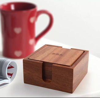 [instocks] wooden coasters set