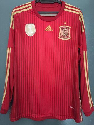 Spain Home WC2014 Long Sleeve Jersey