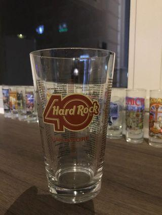 Hard Rock 40th Anniversary Glass
