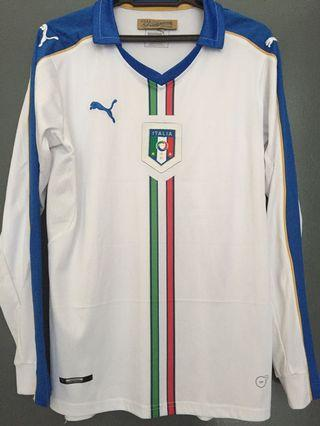 Italy WC2014 Away Long Sleeve Jersey