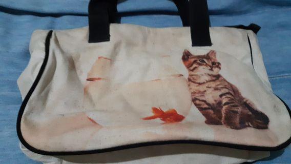 Used Tickles handbag with cat design