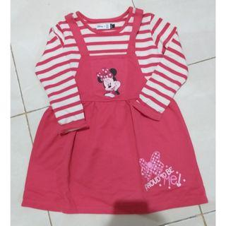 Dress strips minnie mouse pink