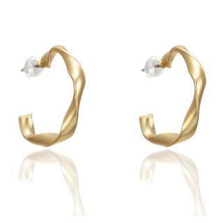 Gold Hoop Twist Earring