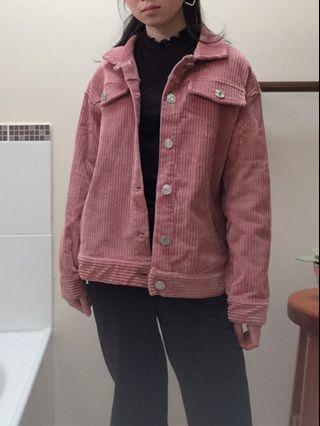 pink corduroy jacket size s fits 6-10