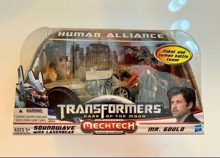 Transformers DOTM Human Alliance Soundwave Decepticon Laserbeak Gould Excellent Box MISB