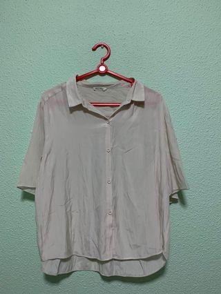 🔥 Vintage Cropped Collared Blouse