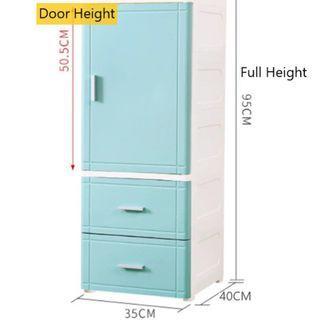 BN Storage Cabinet 1 Door + 2 Drawers ( Full Height 95cm )