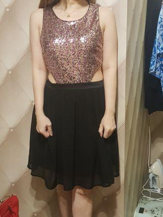 Cocktail gols dress forever XXI