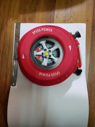 🚚 車輪 硬殼包 側背 紅色