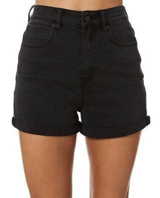 Lee Stevie Black Denim Shorts