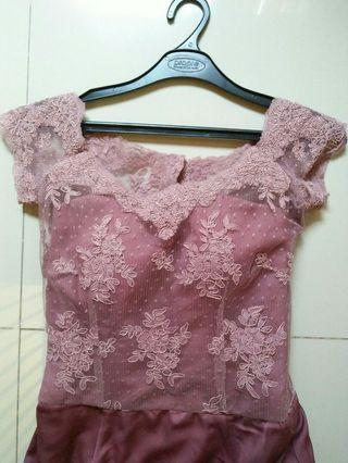Dress Pink Brokat
