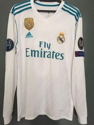 Real Madrid 2017/18 Home Long Sleeve Jersey