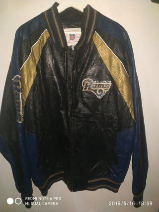 Rams at louis XL Bomber Genuine leather jacket