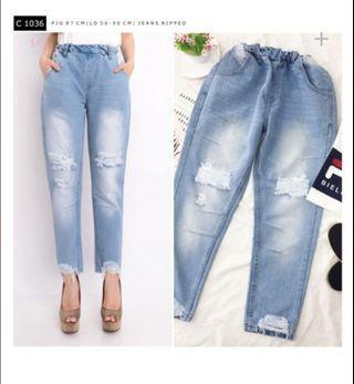 Celana Jeans ripped wanita