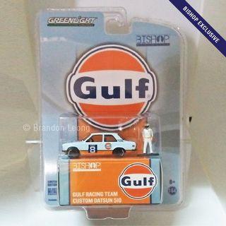 Greenlight Bishop Exclusive - #8 Gulf Racing Team Custom Datsun 510