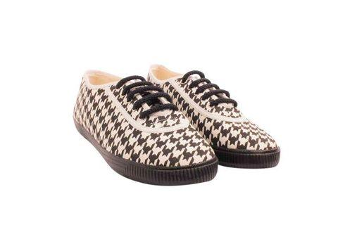 Startas Pepita houndstooth canvas sneakers shoes