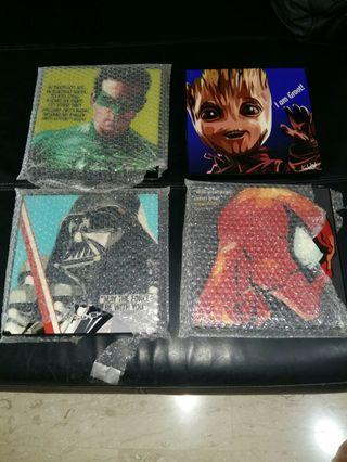 Sales! Popular Assorted Acrylic Pictures @ $23 each (Marvel/DC/StarWars)