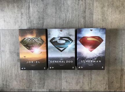 Hot Toys Superman General Zod Jor-El Man of Steel With Freebee