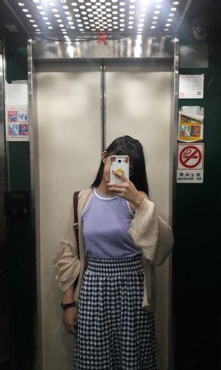 削肩夢幻紫色背心